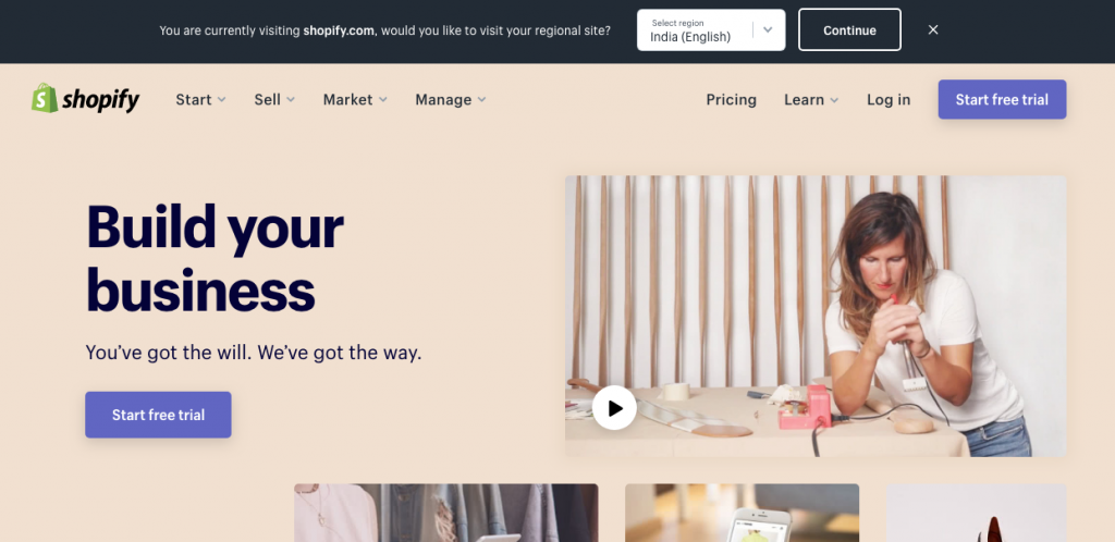 Shopify: An online store builder